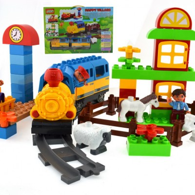 Happy Train Lego Style Block