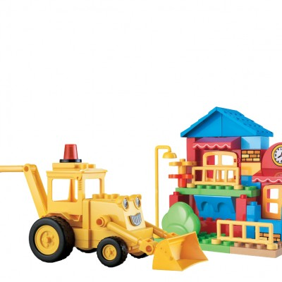 48pcs Construction Bulldozer Block