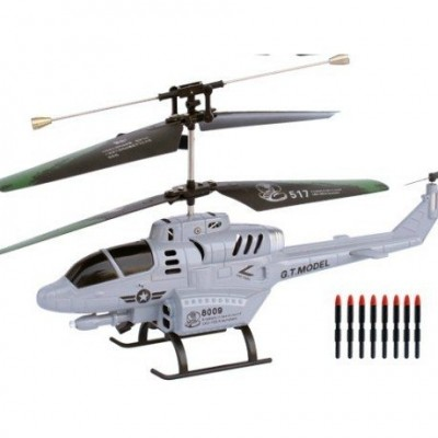 "G.T. Model® R/C 3 Channel Gyro Military Helicopter ""COBRA"" (Military Grey)"