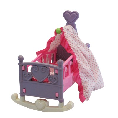 DIY Kids™ Adorable Baby Doll Rocking Cradle Set