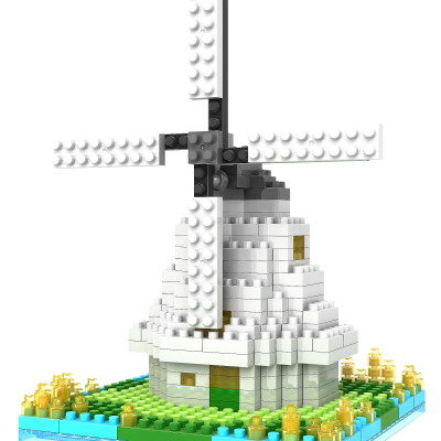 Lego compatible Dutch windmill block (260 pcs)