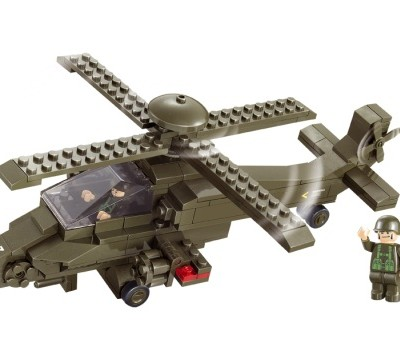 Sluban® Land II Forces Hind Helicopter Lego Compatible Blocks Set (199 pcs)