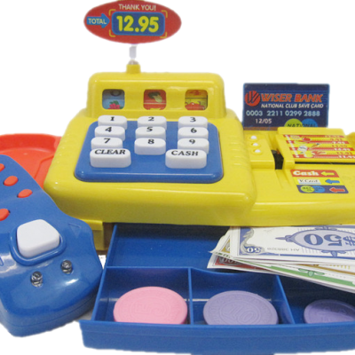Cash Register w/ Play Money and Credit Card
