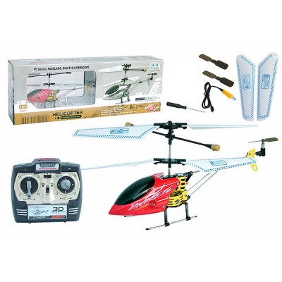 G.T. Model® R/C 3 Channel Gyro Metallic Fuselage Helicopter QS9004 (Red)