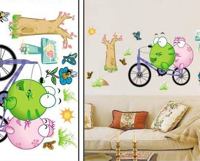 "Room Deco Peel&stick Wall Art Decal 17.5"" * 27.5"" -Froggy's Day at the Park"