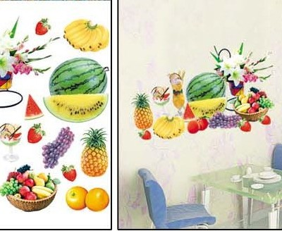 "Room Deco Peel&stick Wall Art Decal 17.5"" * 27.5"" -Fruit Basket Collection"