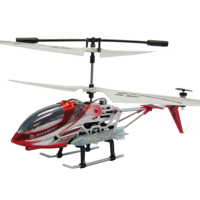 Win-Mart® R/C 3.5 Channel Gyro Metal Mini Helicopter WM106 (Red / Silver)