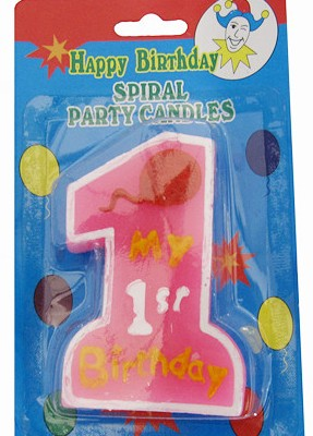 NEW Baby Infant Newborn First 1st Boy Girl Birthday Candle Cake Decorator Topper