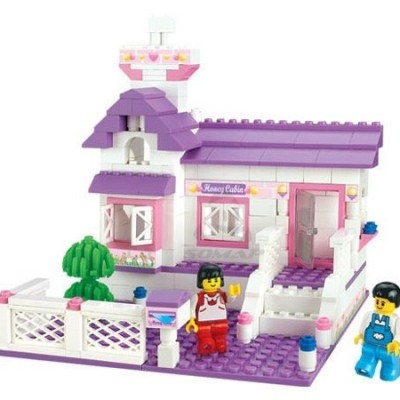 193 Pieces Honey Cabin Blocks Set
