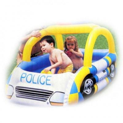 Children Inflatable Blue Police Car