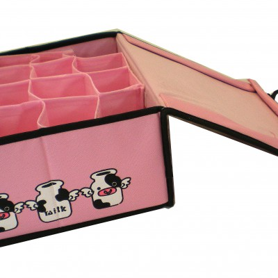 Storage Box with Multiple Divider (Pink)