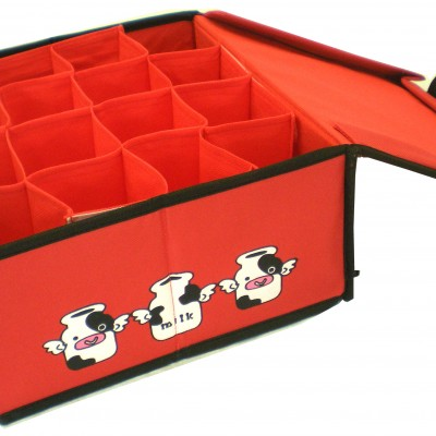 Storage Box with Multiple Divider (Red)