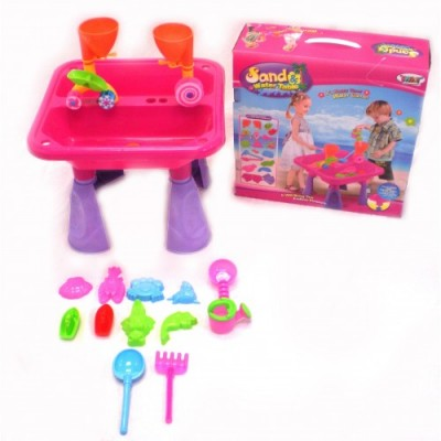 Joybay: Sand & Water Activity Table w/ Beach & Sand Toys Set (Pink)