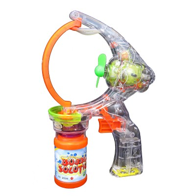 Electronic Light-Up Bubble Making Gun with Sound Effects  (Multicolor)