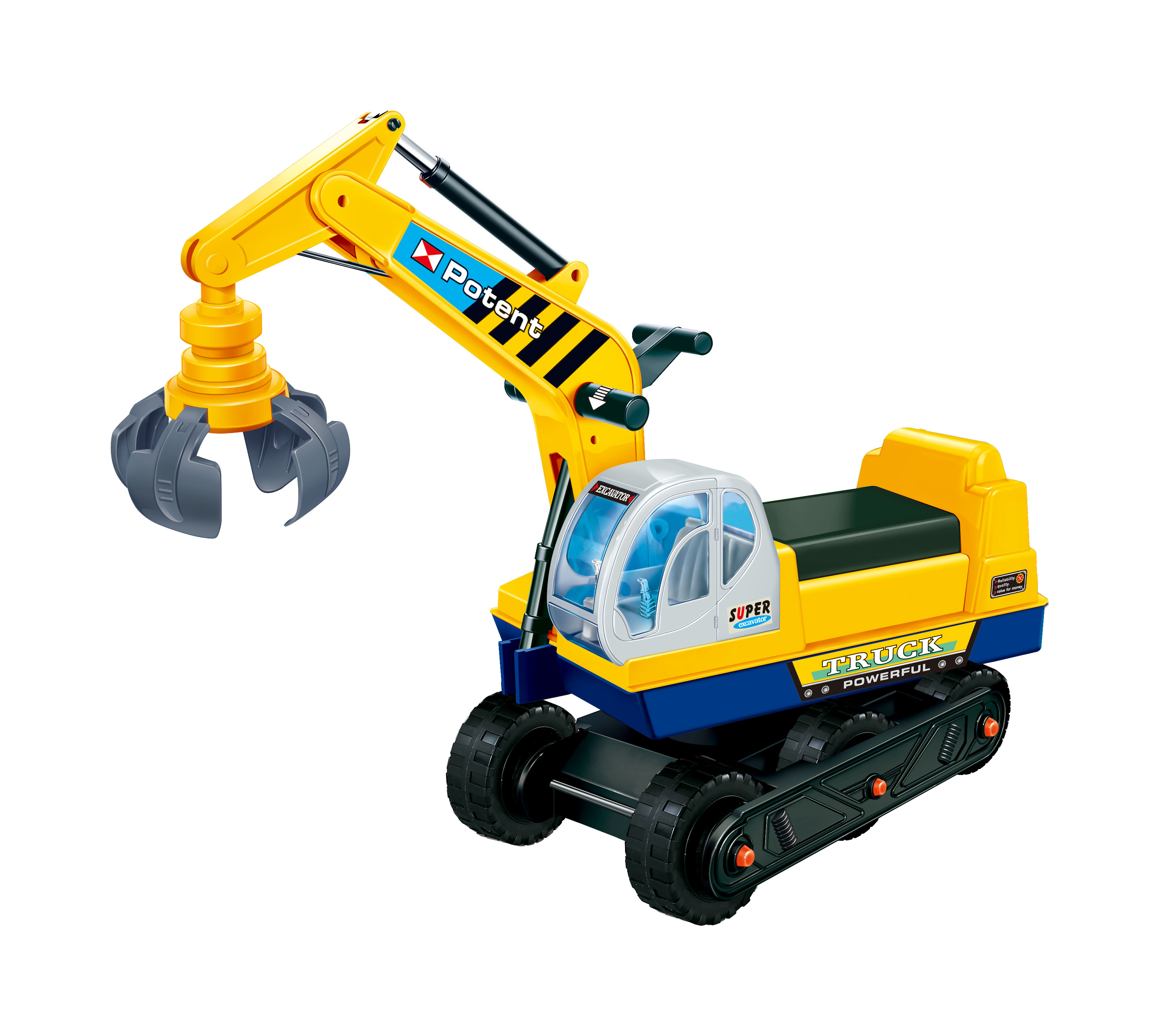 kids ride on manual crane construction vehicle yellow glopo inc
