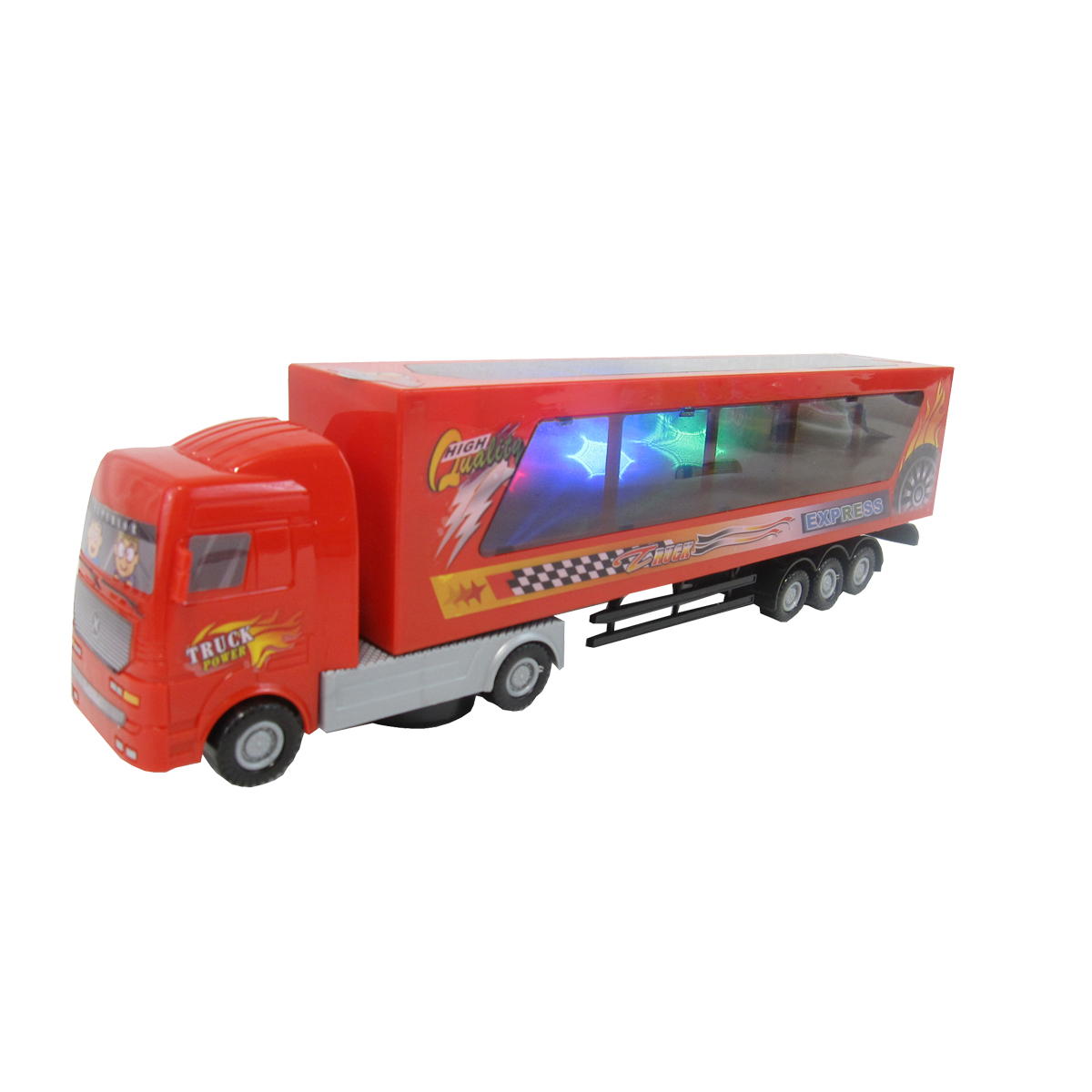 animated light up semi truck with sound effects glopo inc