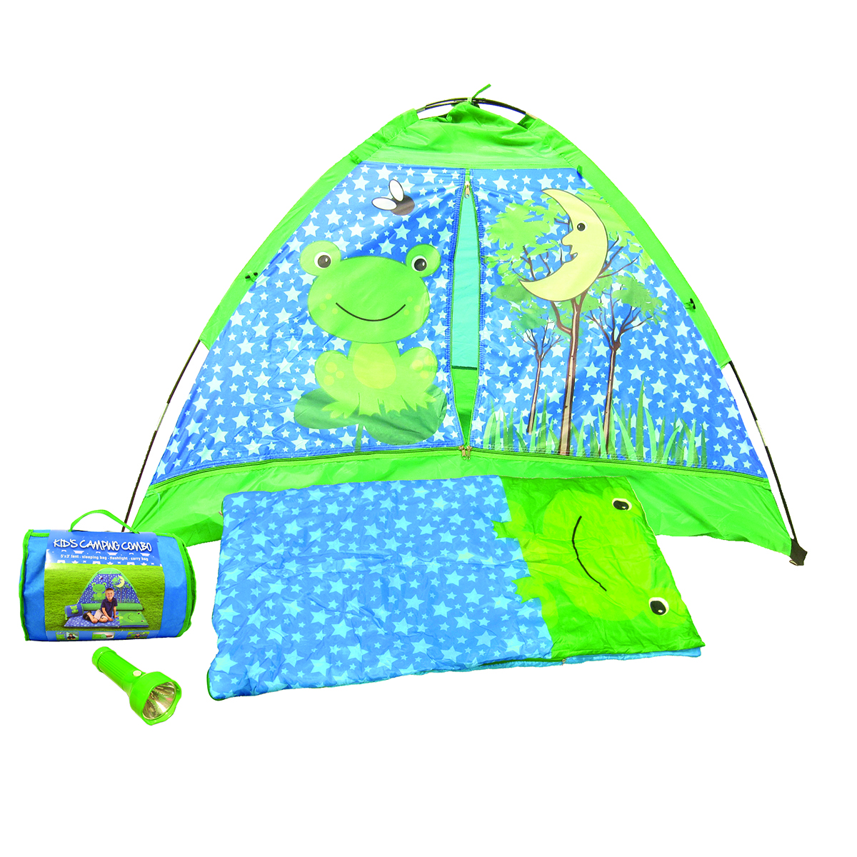 Quick Overview  sc 1 st  Glopo Inc & Frog Kids Camping Combination Set (Green and Blue) | GLOPO Inc